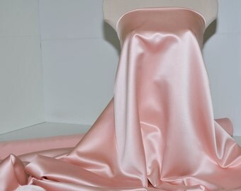 """Duchess satin Fabric 60"""" Premier Rose   ... bridal, formal, pageant, suits , home decor..wedding...crafts"""