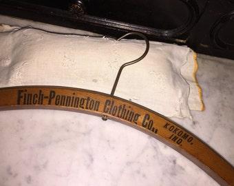 Antique Finch-Pennington Wood Clothes Hanger