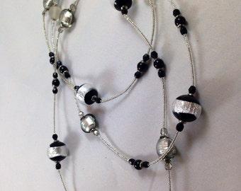 Murano Glass Beaded Necklace - Opera Length *Free Shipping*