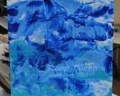 Oceans Glory - Encaustic wax painting