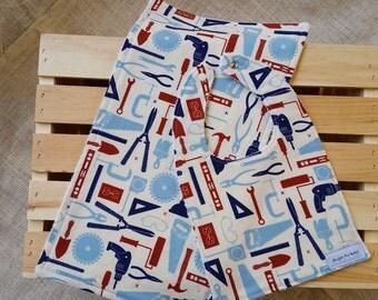 Boys Bib & Burp Cloth Set / Baby Boy Shower Gifts / Tool Bibs and Burp Cloth