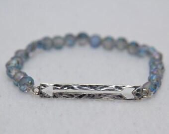 Arrow charm bracelet, arrow bracelet, bead stretch bracelet, stackable jewelry, graduation gift, arrow charm, arrow jewelry, cute jewelry