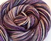 Handspun singles yarn 3.8ozs 356 yards sport/sock weight polwarth silk