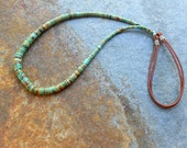 Campo Frio Turquoise and Brown Leather Cord Necklace