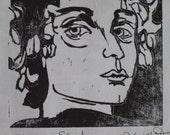 Sandro - original woodblock print