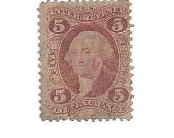 Rare Antique Photo Stamp 1860's , Tax Stamp