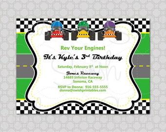 Hot Wheels Racetrack Birthday Invitation - Digital Printable Birthday 5x7 Invite