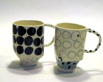 Black and Blue Mugs