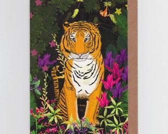Jungle Tiger | Greetings Card