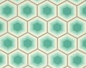 ALMOST GONE Bumble - Honeycomb in Jade by Tula Pink for Free Spirit Fabrics cotton fabric Fat QUARTER fq or Custom Listing