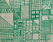 Geometric Architectural Screen Printed Fabric
