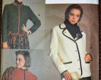 Vintage Sewing Pattern Vogue 9382 Misses' Jacket Bust 30- 32 inches Complete UNCUT