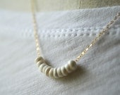 Puka shell necklace with 14kt gold-filled chain, made in Hawaii, cone shell necklace, tiny shell necklace, Kahili Creations, surfer necklace