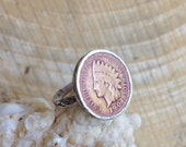 Vintage Indian Maiden Penny Ring