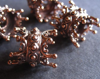 Copper Queen Urchin Large Double Sided Spacers - 14mm X 12mm