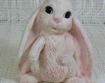 Ceramic Rabbit with Floppy Ears | Ceramic Bunny | Bunny Figurine | Rabbit Statue | Ceramic Rabbit