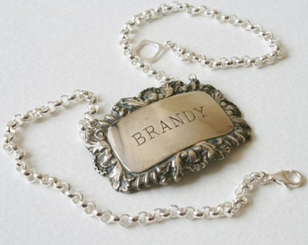 Brandy Charm Necklace Sterling Silver Chain