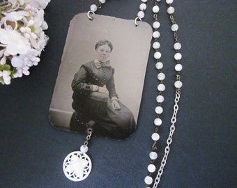 Antique Tintype Necklace Assemblage