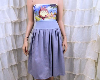 My Neighbor Totoro Strapless Summer Sun Dress Cosplay Costume Adult Large / XL MTCoffinz  (Add Straps Option) - Ready to Ship