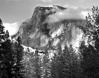 Yosemite Photography, Half Dome Photograph, black & white photography , color photo, landscape Photograph, art and collectibles,