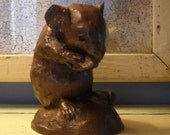 Bronze Mouse Rat Figurine Paperweight Made in England