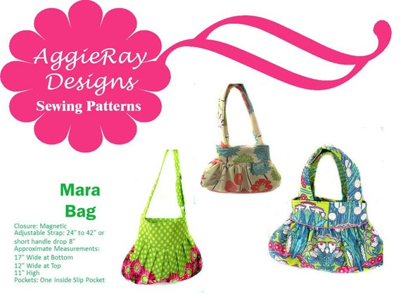 INSTANT DOWNLOAD pdf Tutorial Sewing Pattern Handbag Purse:  Mara Bag Create and Sell Product