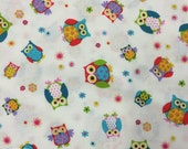 Reserved! 50% OFF - Hoo-Ray by Blank Textiles - 1 Yard - Cotton Fabric / Fabric by Yard / New Fabric / Sewing Supplies / Quilting Cotton
