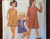 Sweet 1960's Simplicity Girl's Dress Pattern #7233 Size 10 Breast 28 - WV