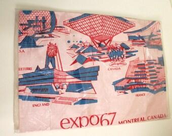 Expo 67 Montreal Canada Souvenir Apron