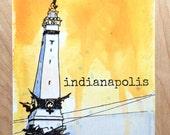 Monument Circle (Indianapolis) Postcard