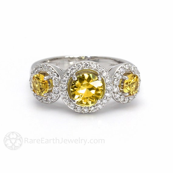 yellow sapphire ring sapphire engagement ring 3 by