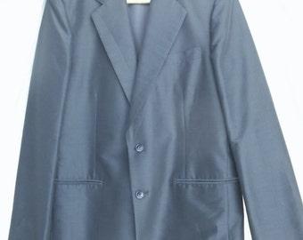Silk Shantung Suit Coat and Vest Custom Tailored in HOng Kong Amazing handwork sz 40 or 42