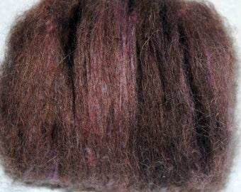 Fiber Batt, Llama Fiber, Merino, Cotswold Wool Locks, Spinning Fiber, Felting Fiber, Mini Batts, Hand Dyed 1 oz.