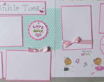 TWINKLE TOES 12x12 Premade Scrapbook Pages BaLLeT BaLLeRiNa