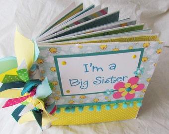 I'M A BIG SISTER premade PaPeR BaG Scrapbook Album