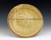 Yanara and Robert Wedding Registry - Pair of Dinner Plates - Soft Yellow / Pale Green/Terracotta Sunburst  - Reserved Listing