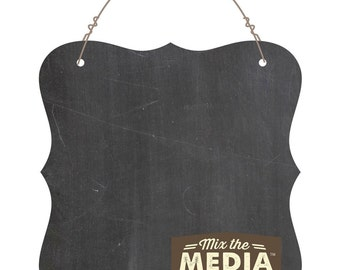 "Mix The Media Chalkboard Surface Plaque, 6"" X 6"""