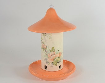 Bird Seed Feeder Asian Floral