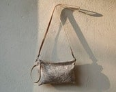 special - new BEES WAX Linen Clutch - crossbody pocket clutch - fully lined in waxed cotton