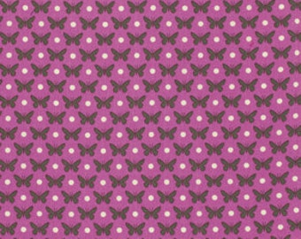 SALE fabric, Heather Bailey Lottie Da fabric by Fabric Shoppe- Butterfly Fabric Dot in Orchid, You Choose the Cuts. Free shipping available