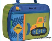 Personalized Construction, Lunchbox, School, Lunch Sac, Personalized Lunchbox, Kids Lunchbox, Lunch Box, Lunch Pal,