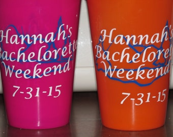 6 Personalized Plastic Cups