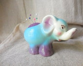 Adorable Vintage Elephant Planter remade into Pin Cushion