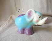 Adorable Vintage Elephant Planter remade into Pin Cushion