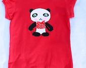 Playful Panda Red Top Size 6