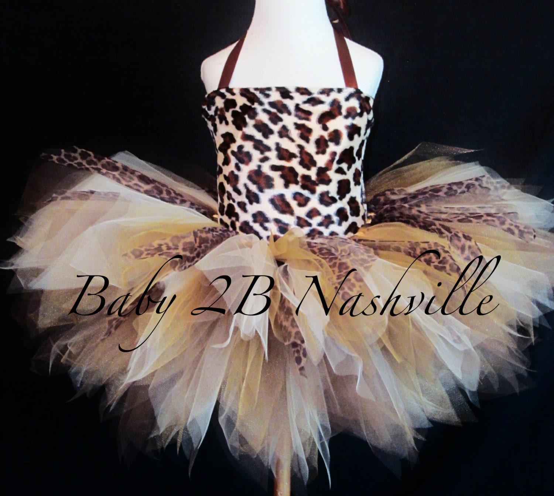 Girls Safari Cheetah Tutu Costume Safari Costume Cheetah & Baby Cheetah Halloween Costumes - Meningrey