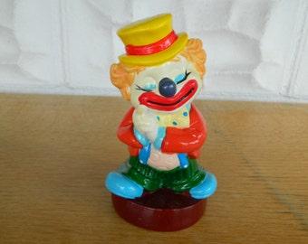 Vintage Clown Bank-Happy