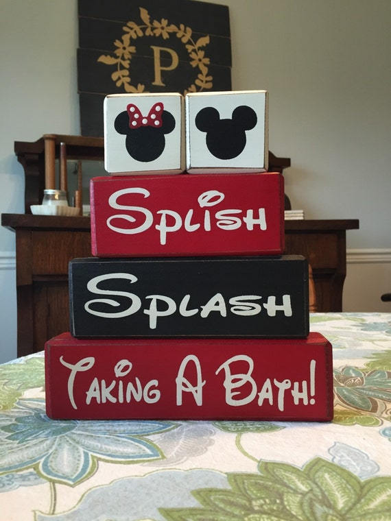 mickey mouse bathroom decor splish splash taking a bath disney rustic