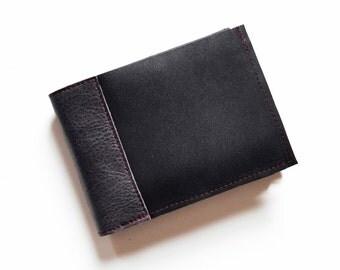Mens Wallet, Black Leather Bifold, Bifold Wallet Black, Mens Leather Wallet, Gift for Him, Mens Bifold Black - The Wesley Wallet in Black