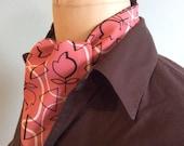Vintage Silk Kimono Ascot Cravat Mens Accessory OOAK